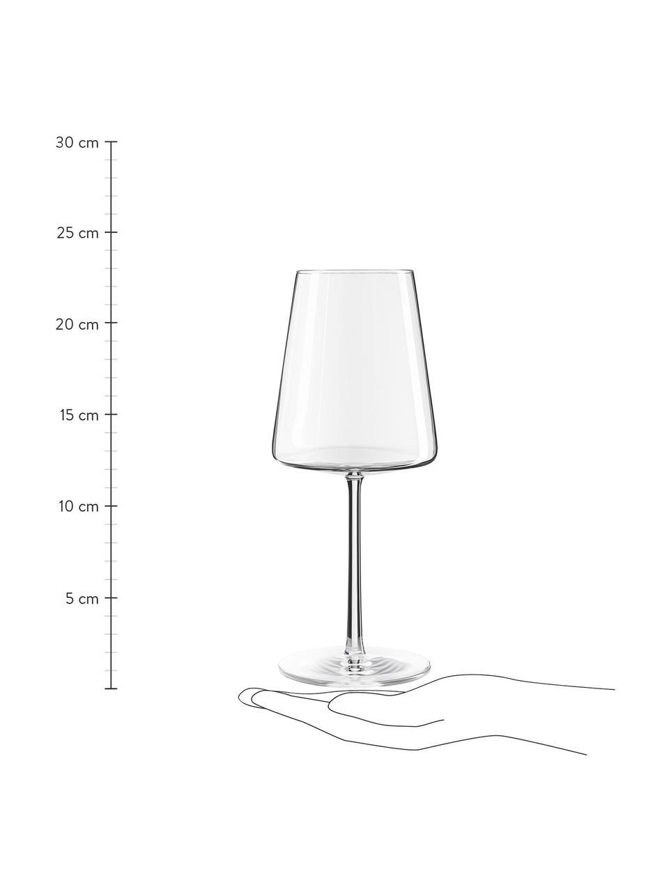 Kristall-Rotweingläser Power in Kegelform, 6 Stück, Kristallglas, Transparent, Ø 9 x H 23 cm
