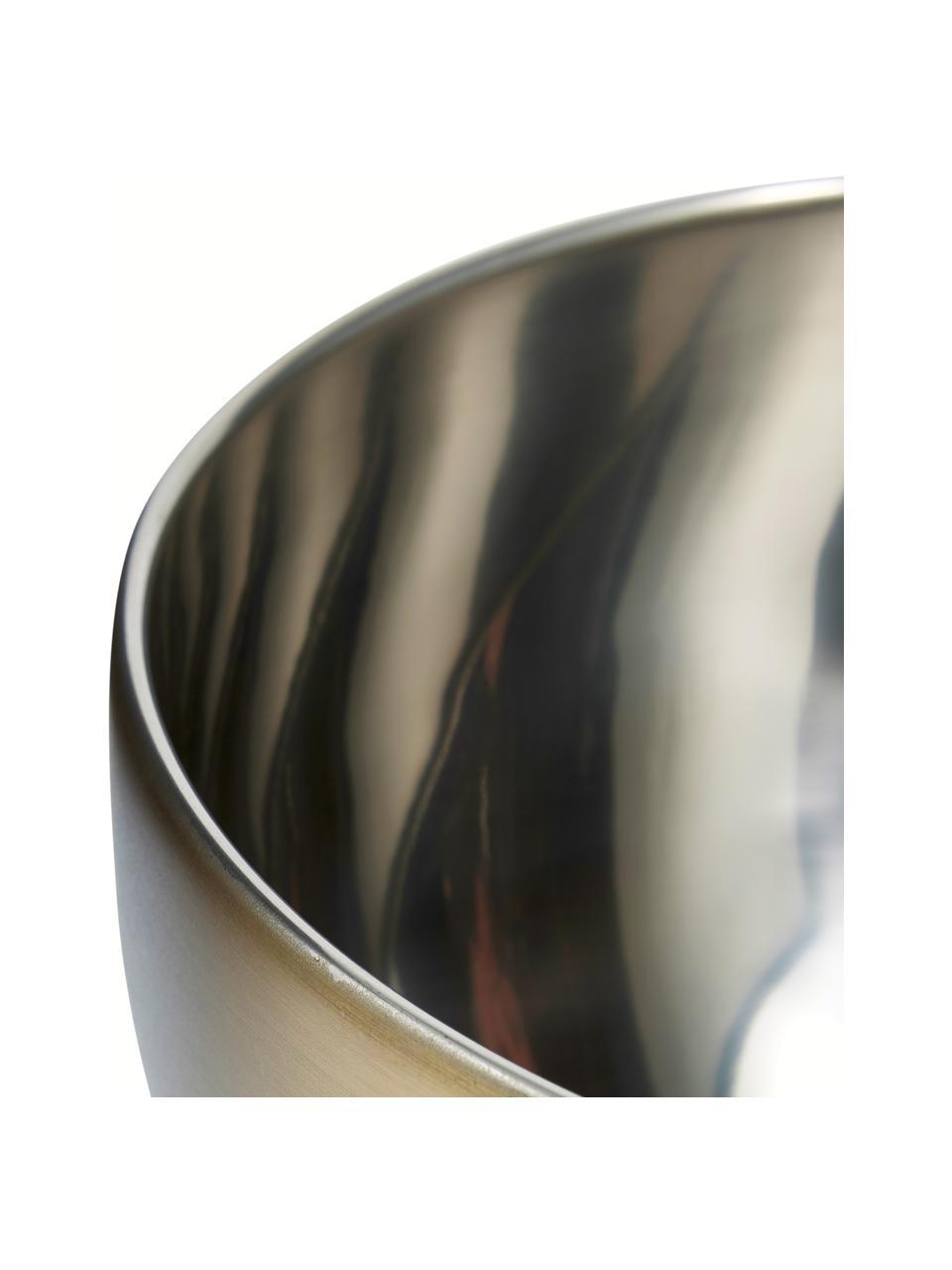Schüssel Master Class aus Edelstahl, verschiedene Größen, Außen: Edelstahl, beschichtet, Innen: Edelstahl, Messingfarben, Edelstah, Ø 21 x H 12 cm