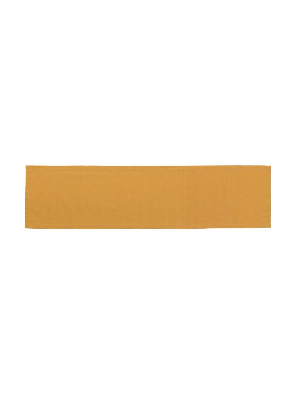 Runner in misto cotone giallo senape Riva, Giallo senape, Larg. 40 x Lung. 150 cm