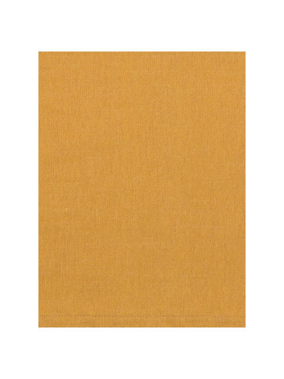 Tischläufer Riva aus Baumwollgemisch in Senfgelb, Webart: Jacquard, Senfgelb, 40 x 150 cm