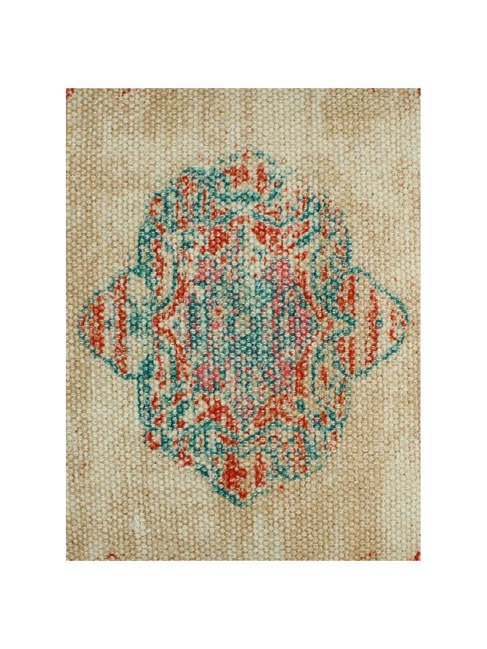 Poduszka z chwostami i wypełnieniem Latina, Beżowy, wielobarwny, S 45 x D 45 cm