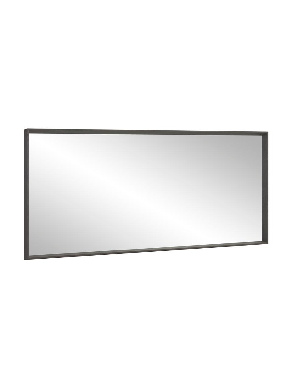 Leunende spiegel Nerina met houten lijst, Lijst: hout, Donkerbruin, 80 x 180 cm