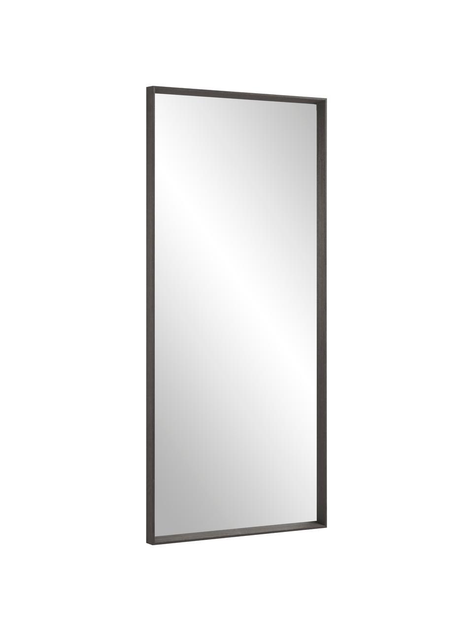 Anlehnspiegel Nerina mit Holzrahmen, Rahmen: Holz, Spiegelfläche: Spiegelglas, Dunkelbraun, 80 x 180 cm