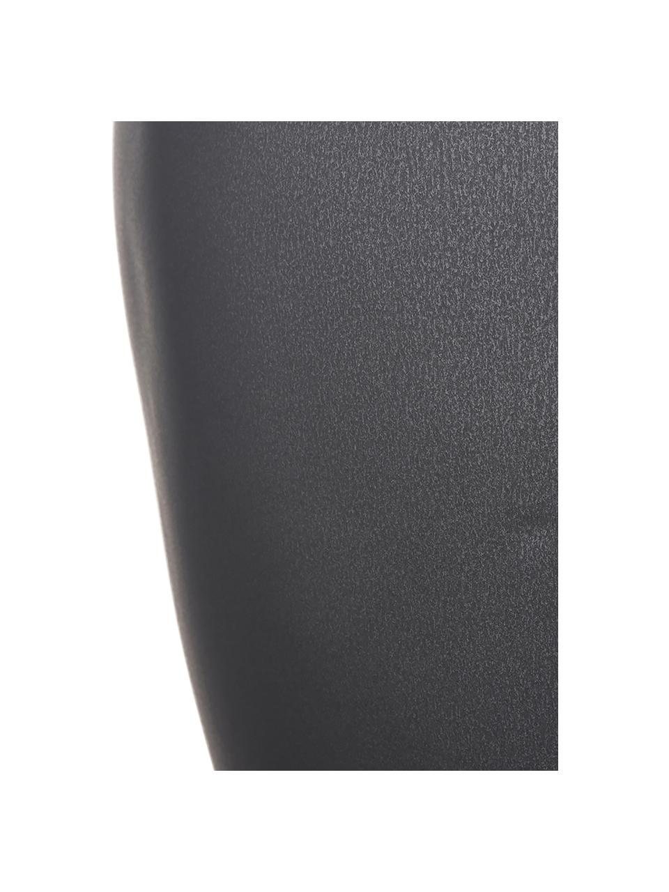 Vaso moderno in ceramica fatto a mano Latona, Ceramica, Nero opaco, Ø 27 x Alt. 41 cm