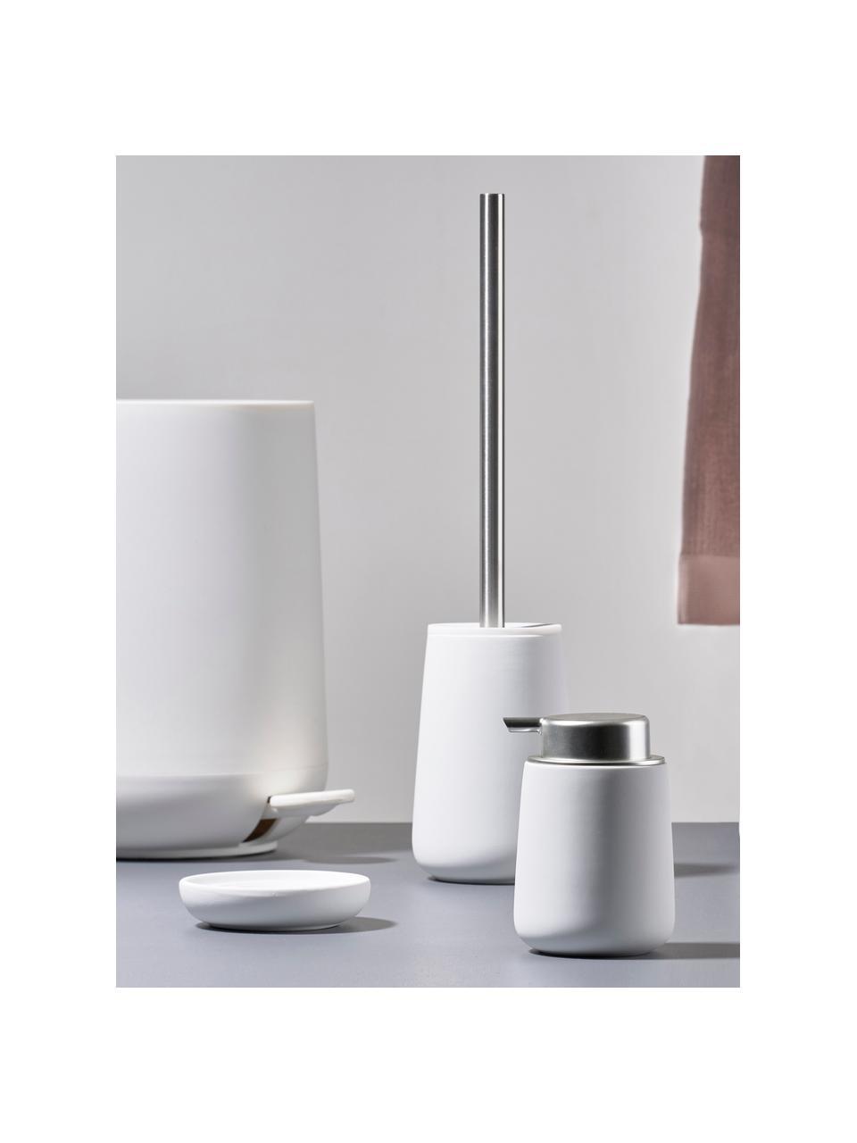 Porzellan-Seifenschale Nova One, Porzellan, Weiß, Ø 11 x H 3 cm