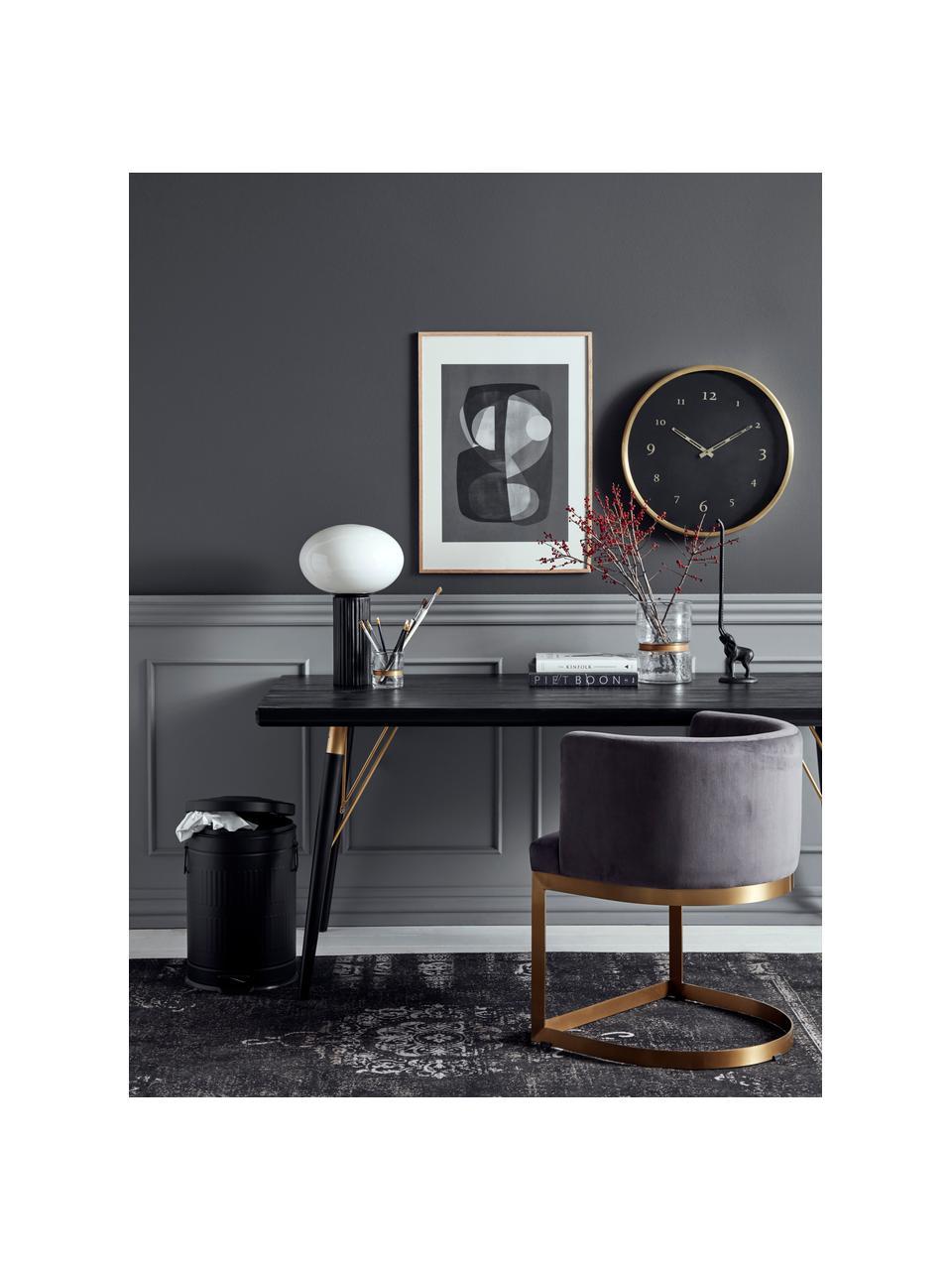 Esstisch Marlena in Schwarz, Tischplatte: Mitteldichte Holzfaserpla, Beine: Metall, lackiert, Schwarz, B 180 x T 90 cm