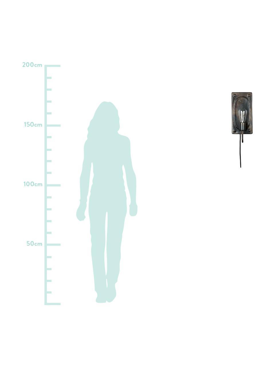 Applique con spina Brody, Marrone scuro, Larg. 16 x Alt. 38 cm