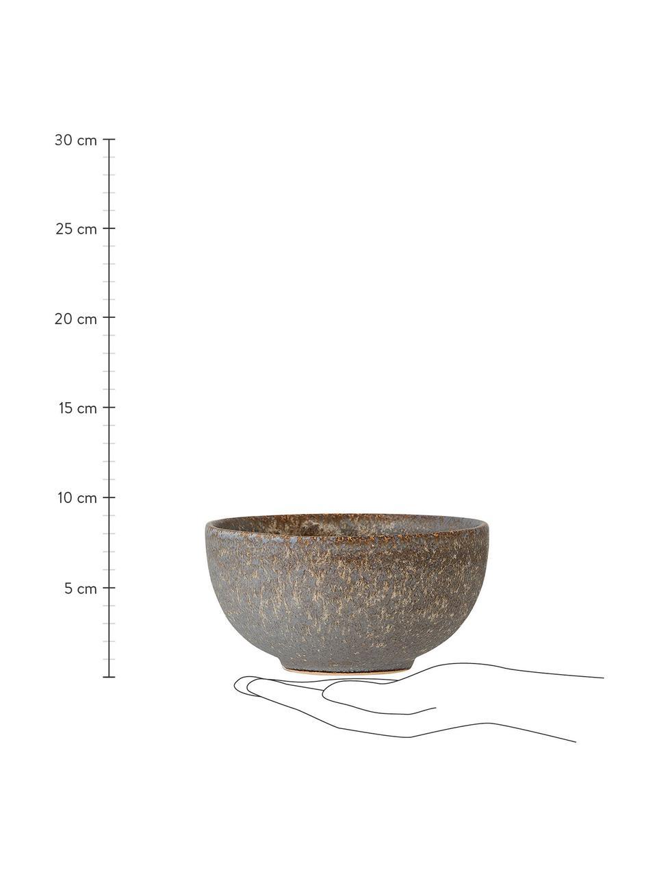 Cuencos artesanales Addison, 3 uds., Gres, Gris, beige, blanco, Ø 16 x Al 8 cm