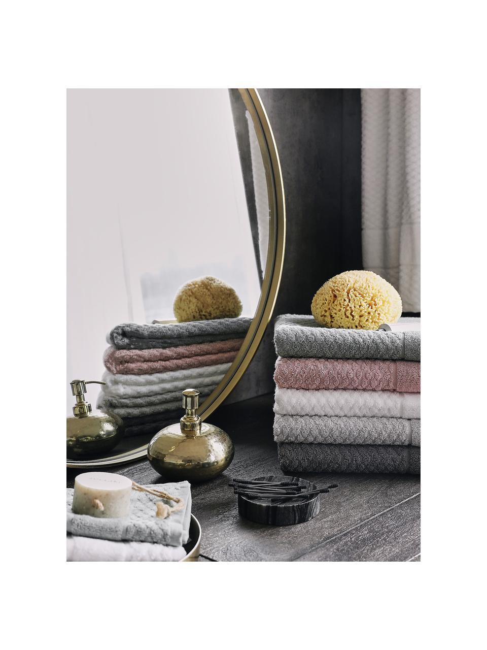 Komplet ręczników Katharina, 3 elem., Ciemnyszary, Komplet z różnymi rozmiarami
