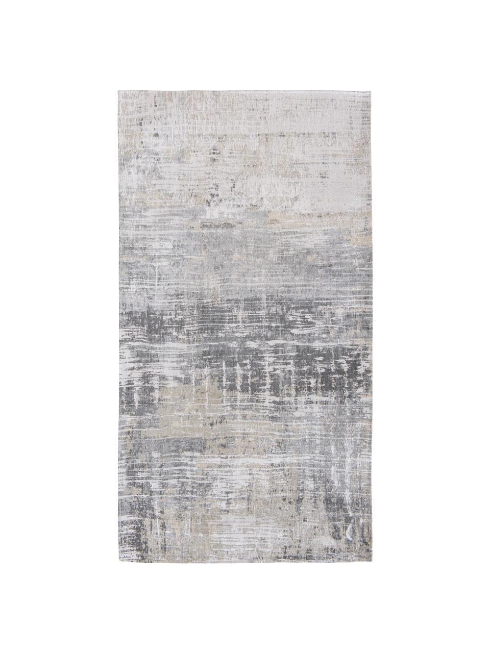 Designteppich Streaks in Grau, Flor: 85%Baumwolle, 15%hochgl, Webart: Jacquard, Grautöne, B 140 x L 200 cm (Größe S)