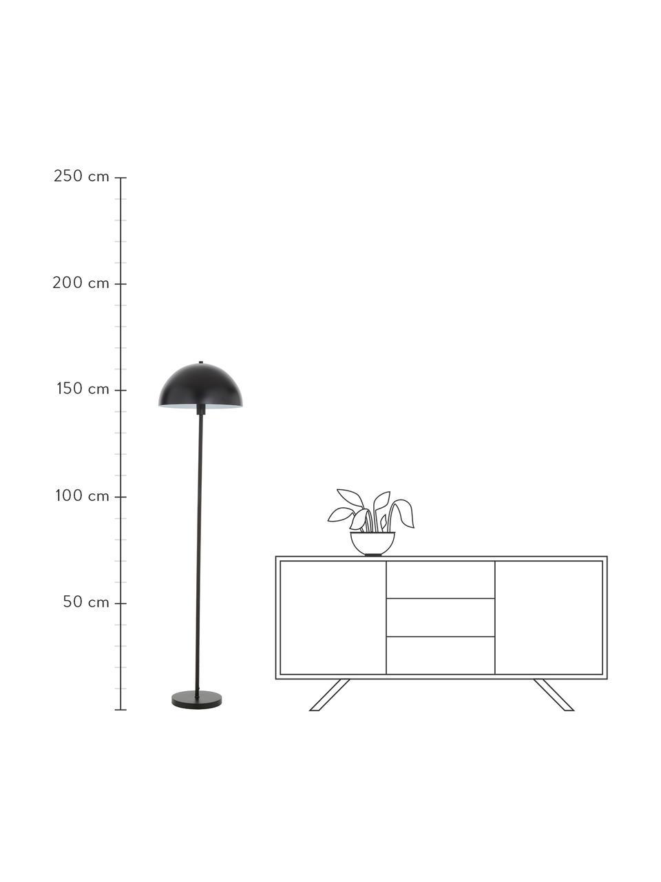 Lampada da terra nera Matilda, Paralume: metallo verniciato a polv, Base della lampada: metallo verniciato a polv, Nero, Ø 40 x Alt. 164 cm