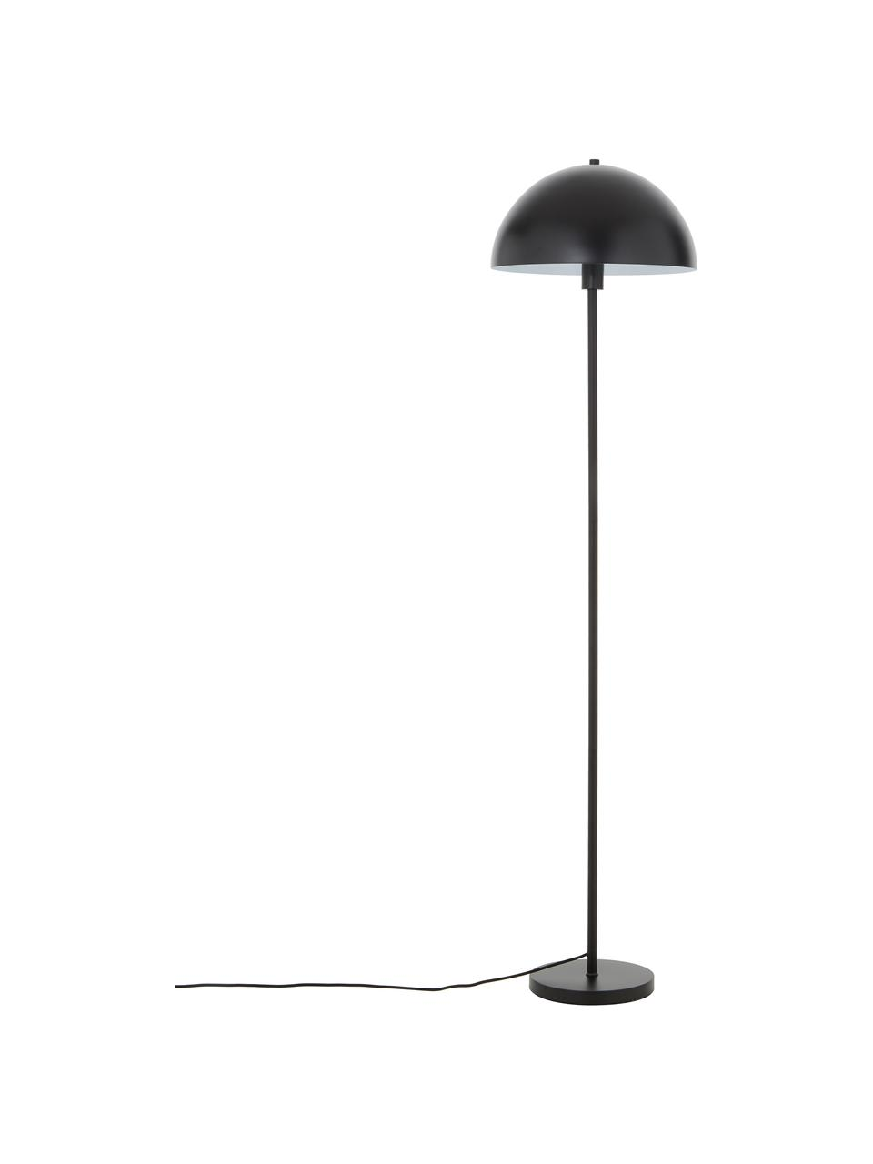 Vloerlamp Matilda in zwart, Lampenkap: gepoedercoat metaal, Lampvoet: gepoedercoat metaal, Zwart, Ø 40 x H 164 cm