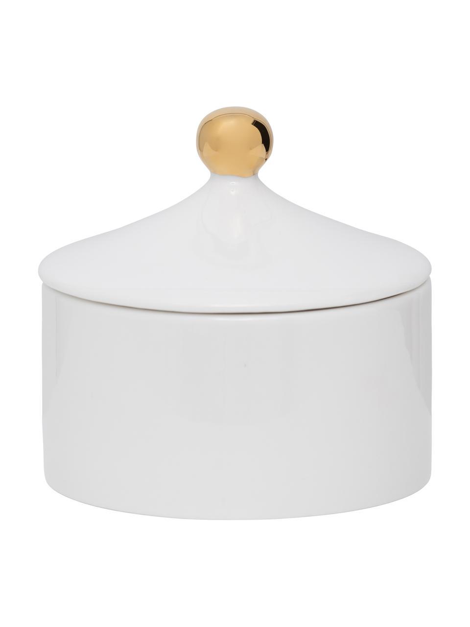Cukiernica Good Morning, Kamionka, Biały, odcienie złotego, Ø 10 x W 9 cm