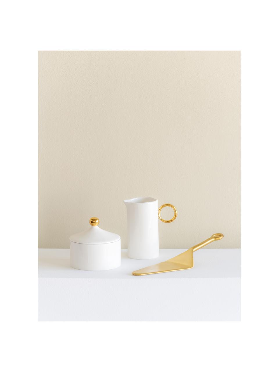 Sucrier Good Morning, Blanc, couleur dorée