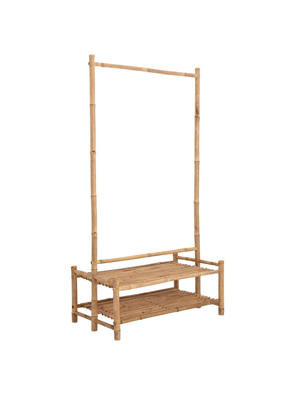 Wieszak stojący Christianna, Drewno bambusowe, Beżowy, S 60 x W 130 cm