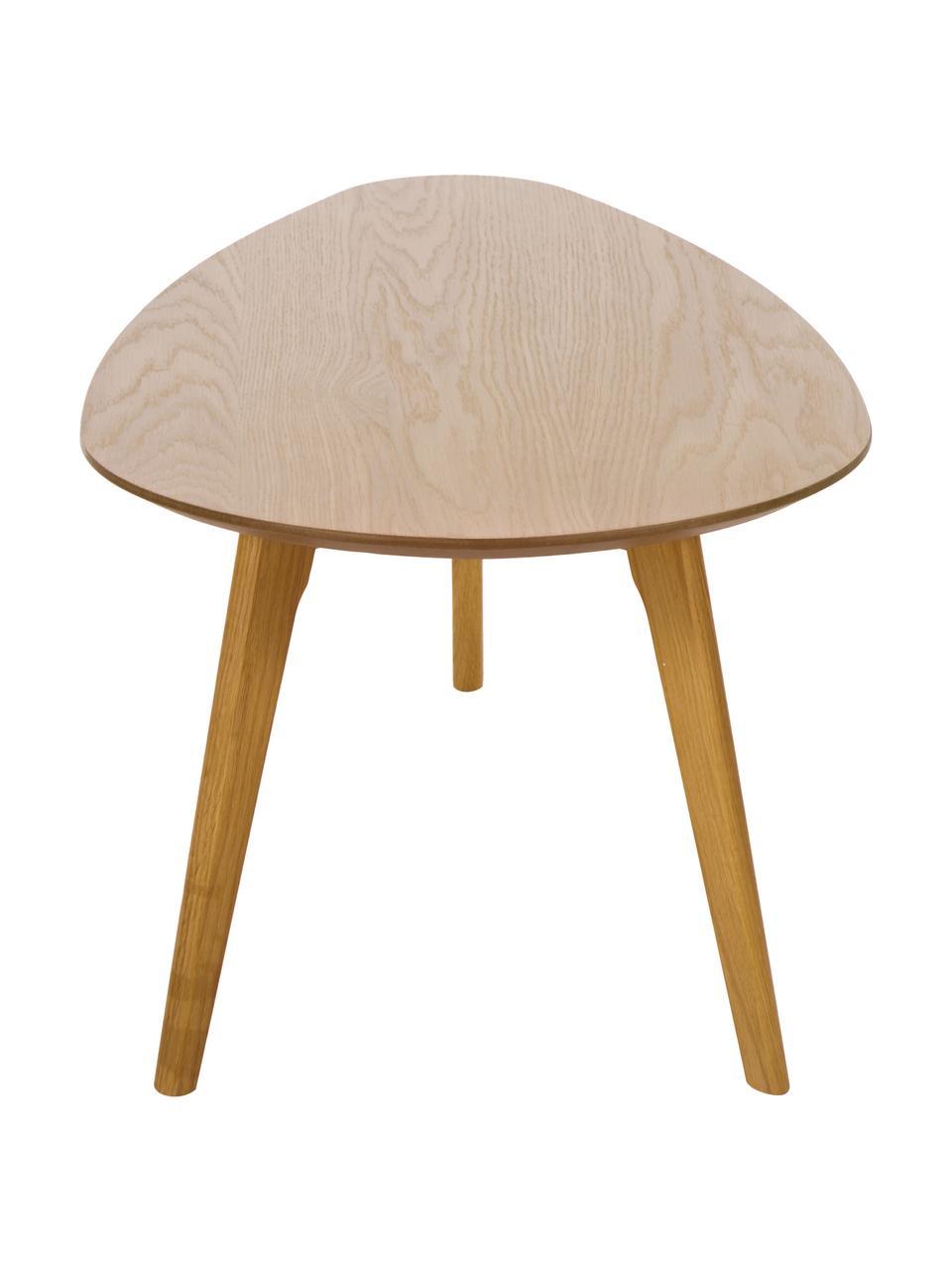 Súprava konferenčných stolíkov s dubovou dyhou, 2 diely, Dubové drevo