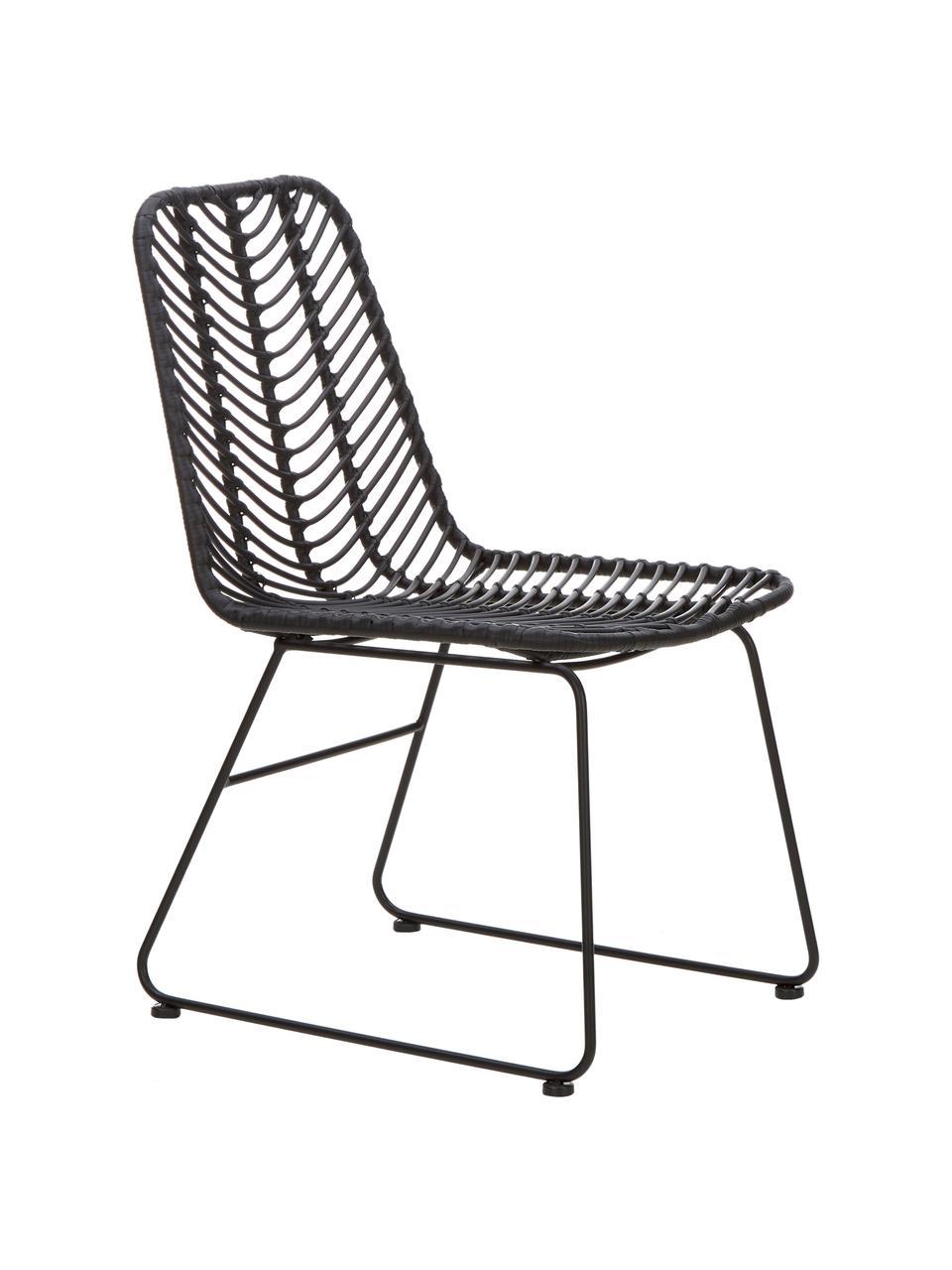 Polyratanová židle Providencia, Černá