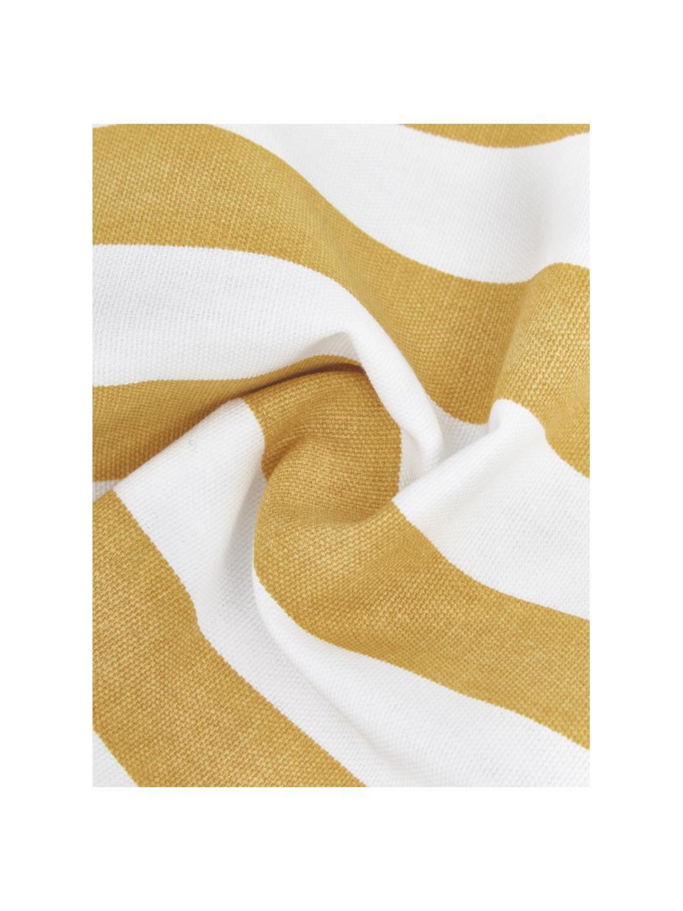 Federa arredo a righe giallo/bianco Timon, 100% cotone, Giallo, bianco, Larg. 50 x Lung. 50 cm