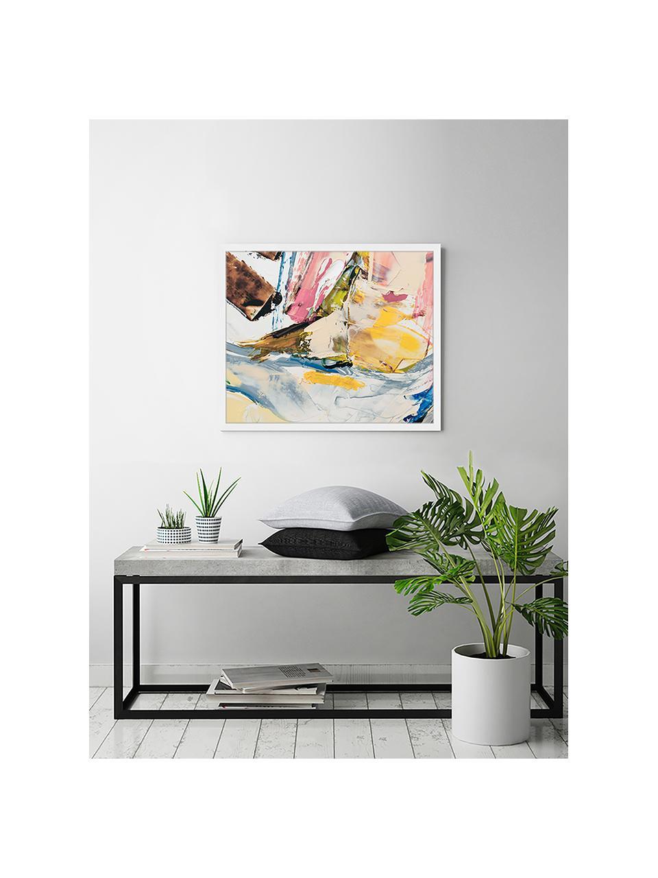Stampa digitale incorniciata Abstract Art III, Immagine: stampa digitale su carta,, Cornice: legno verniciato, Multicolore, Larg. 63 x Alt. 53 cm