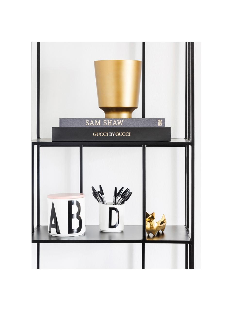 Mug design porcelaine Personal (variantes deA à Z), Blanc, noir