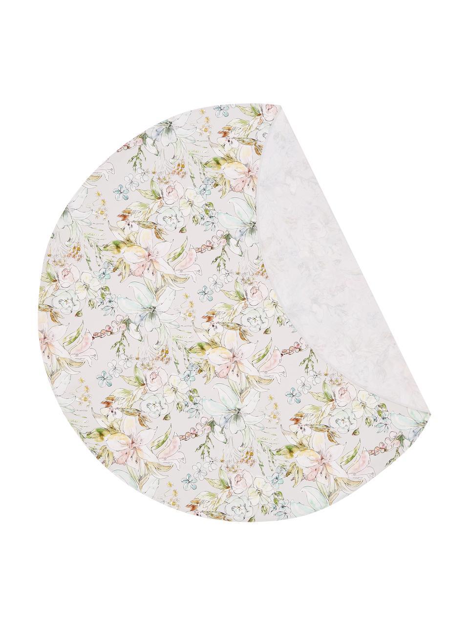 Runde Tischdecke Angelina, 100% Baumwolle, Mehrfarbig, Ø 170 cm