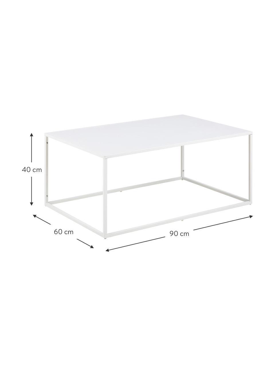 Metalen salontafel Newton in wit, Gepoedercoat metaal, Wit, B 90  x D 60 cm