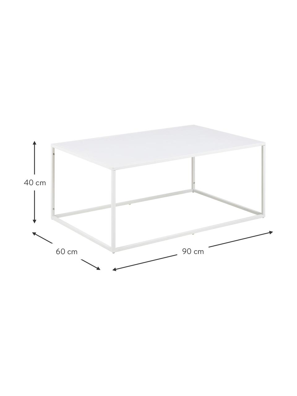 Table basse métal blanc Neptun, Blanc
