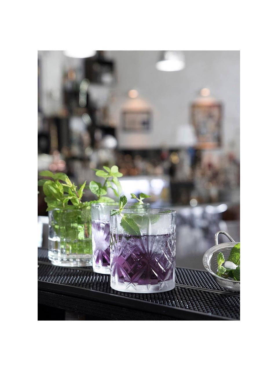 Komplet szklanek do whisky ze szkła kryształowego z reliefem Bichiera, 4 elem., Szkło kryształowe, Transparentny, Ø 8 x W 9 cm