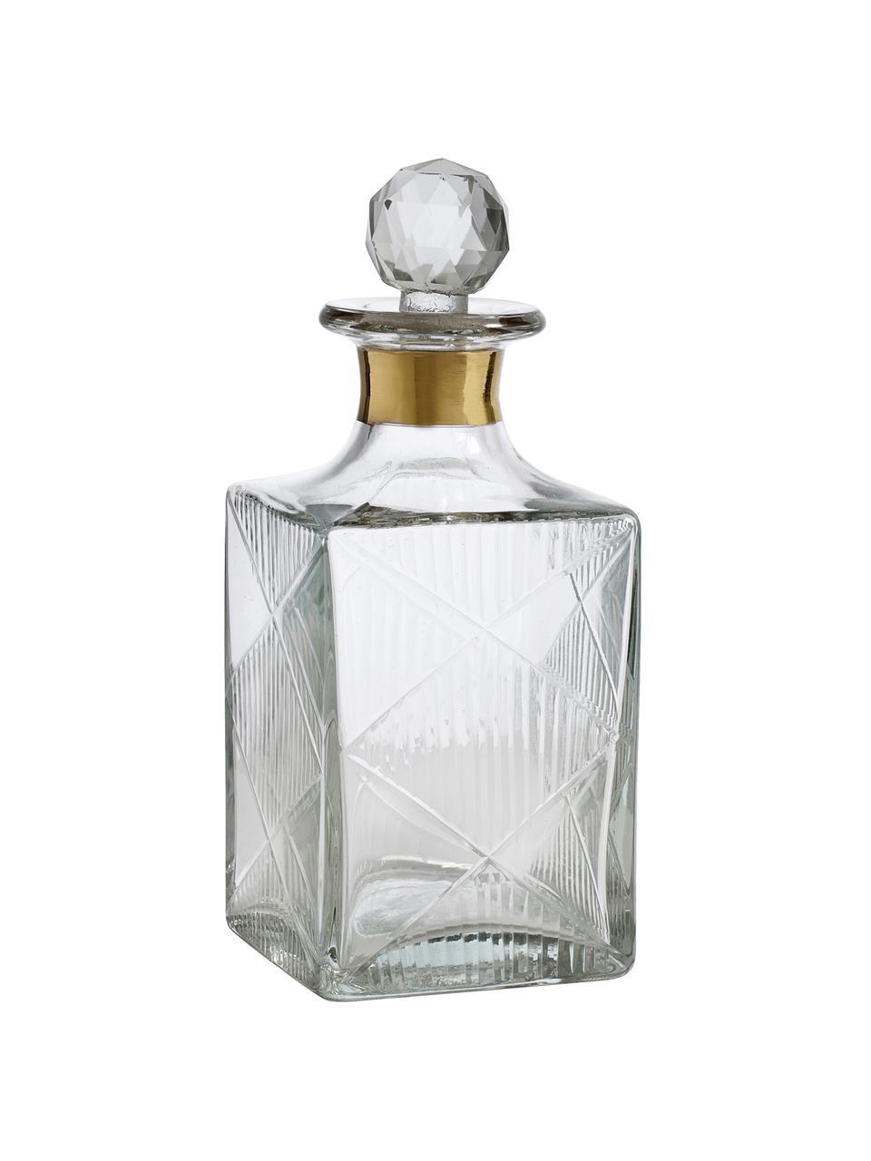 Carafe à décanter avec bouchon Diamond, 400 ml, Transparent Col: couleur dorée