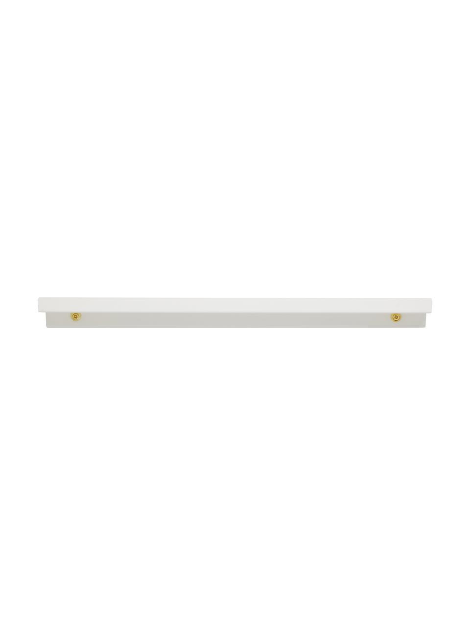 Wąska półka na zdjęcia Shelfini, Biały, mosiądz, S 50 x W 6 cm