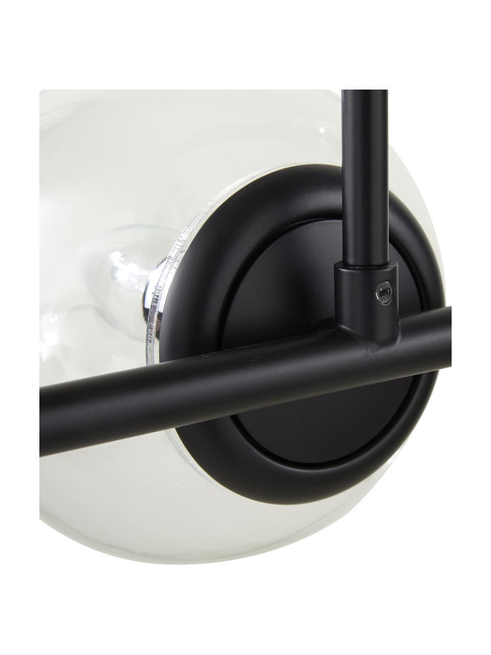 Lámpara de techo grande Casey, Cable: cubierto en tela, Negro, An 120 x Al 157 cm