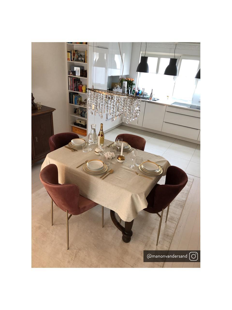 Fluwelen stoel Tess in bordeauxrood, Bekleding: fluweel (polyester), Poten: gepoedercoat metaal, Fluweel bordeauxrood, goudkleurig, B 49 x D 64 cm