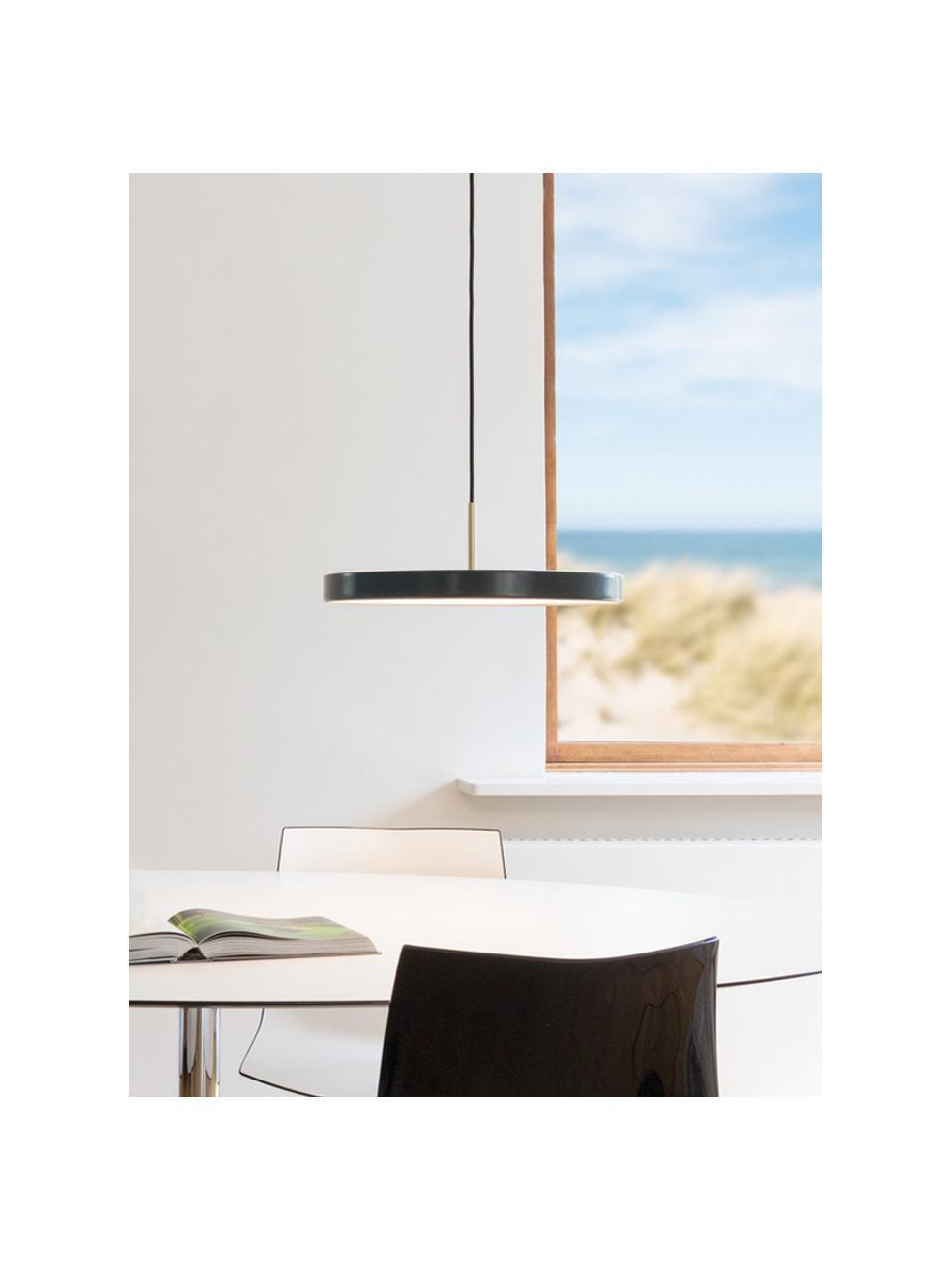 Design LED-Pendelleuchte Asteria, Lampenschirm: Aluminium, lackiert, Dekor: Stahl, lackiert, Anthrazit, Ø 31 x H 14 cm