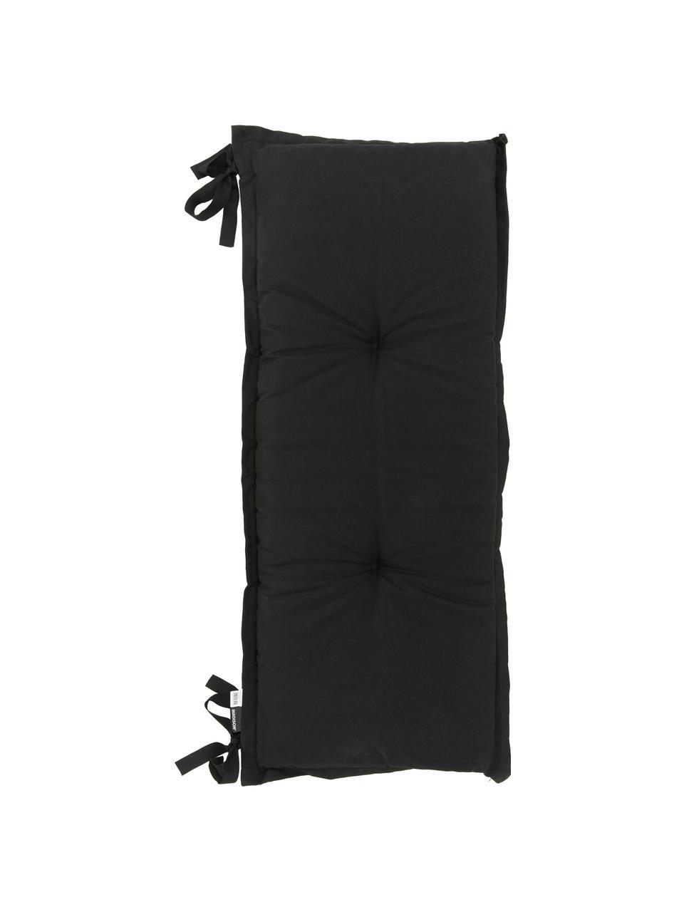 Poduszka na ławkę Panama, 50% bawełna, 45% poliester, 5% inne włókna, Czarny, S 48 x D 120 cm