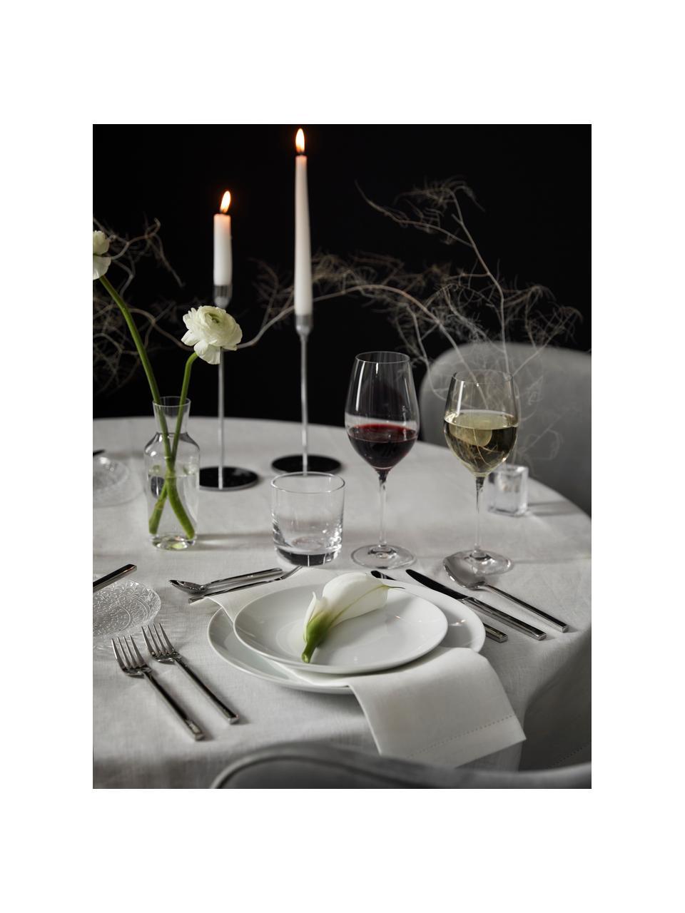 Talerz duży z porcelany Delight Modern, 2 szt., Porcelana, Biały, Ø 27 cm