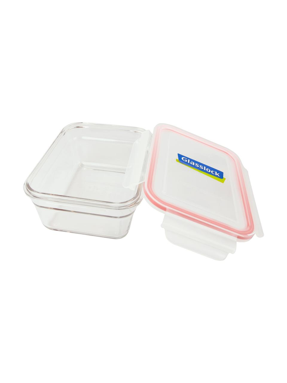 Frischhalteboxen Bea, 2 Stück, Behälter: Gehärtetes Glas, schadsto, Verschluss: Polypropylen, Dichtung: Silikon, Transparent, Rosa, 18 x 7 cm