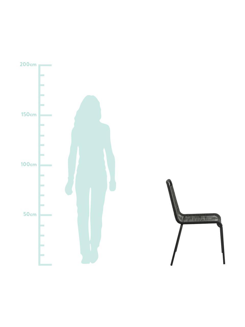 Zahradní židle Lambton, 2 ks, Černá