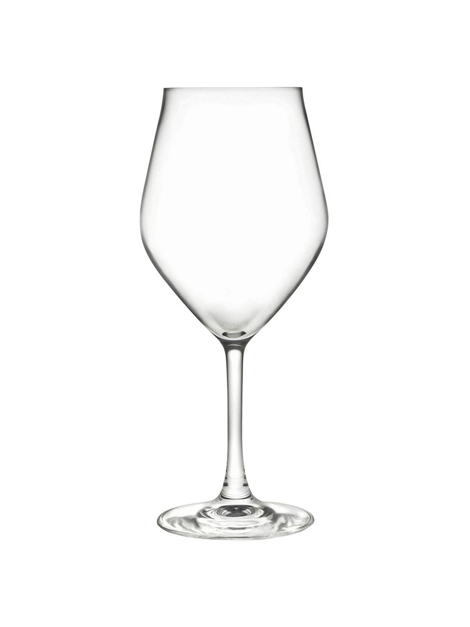 Kieliszek do wina z kryształu Eno, 6 szt., Szkło kryształowe Luxion, Transparentny, Ø 10 x W 22 cm