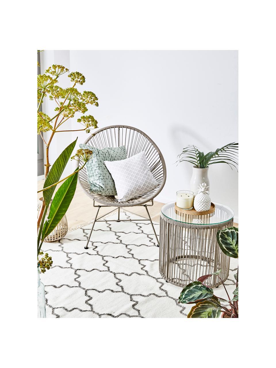 Loungesessel Bahia aus Kunststoff-Geflecht, Sitzfläche: Kunststoff, Gestell: Metall, pulverbeschichtet, Taupe, B 81 x T 73 cm