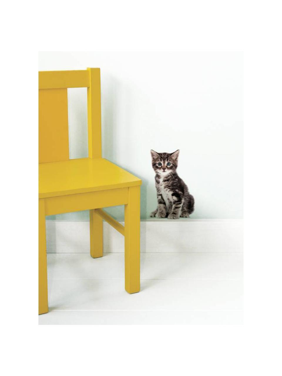 Wandaufkleber Zoe, Selbstklebende Vinylfolie, matt, Braun, Schwarz, Beige, 13 x 20 cm