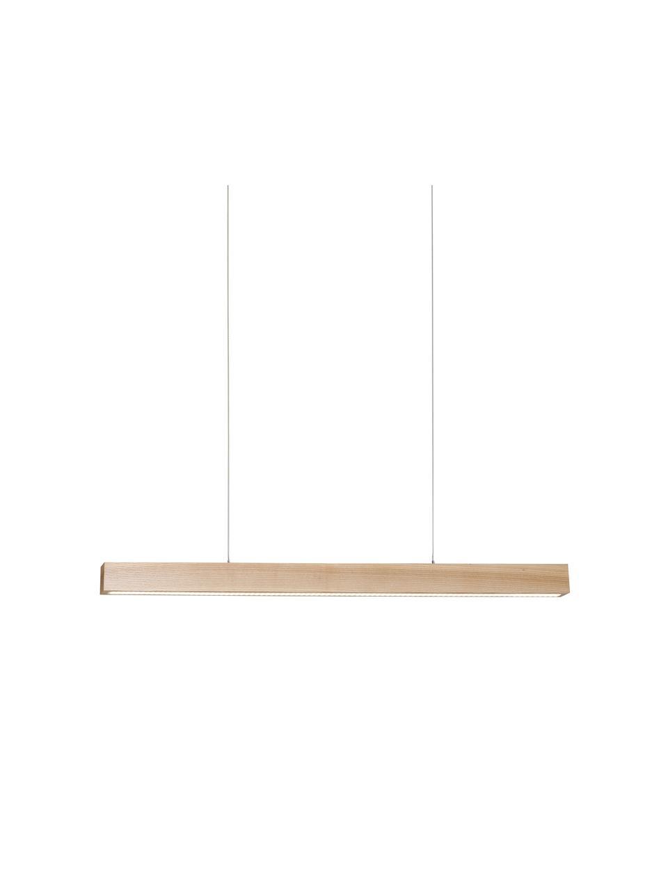 Große LED-Pendelleuchte Timber aus Holz, Lampenschirm: Holz, Baldachin: Holz, Holz, B 65 x T 9 cm