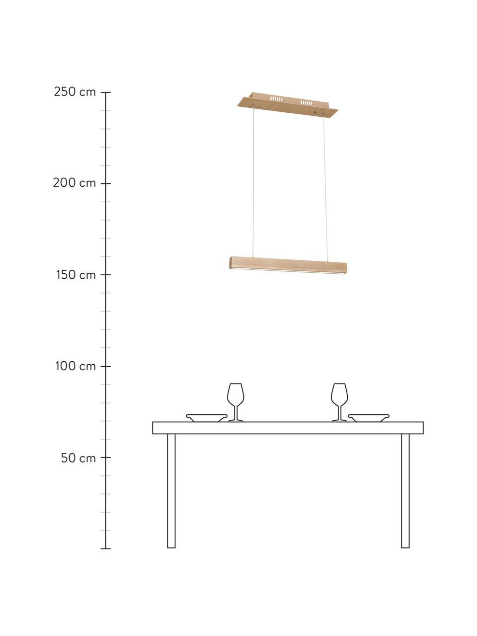 Lampada a sospensione a LED in legno Timber, Paralume: legno, Baldacchino: legno, Legno, Larg. 94 x Prof. 9 cm