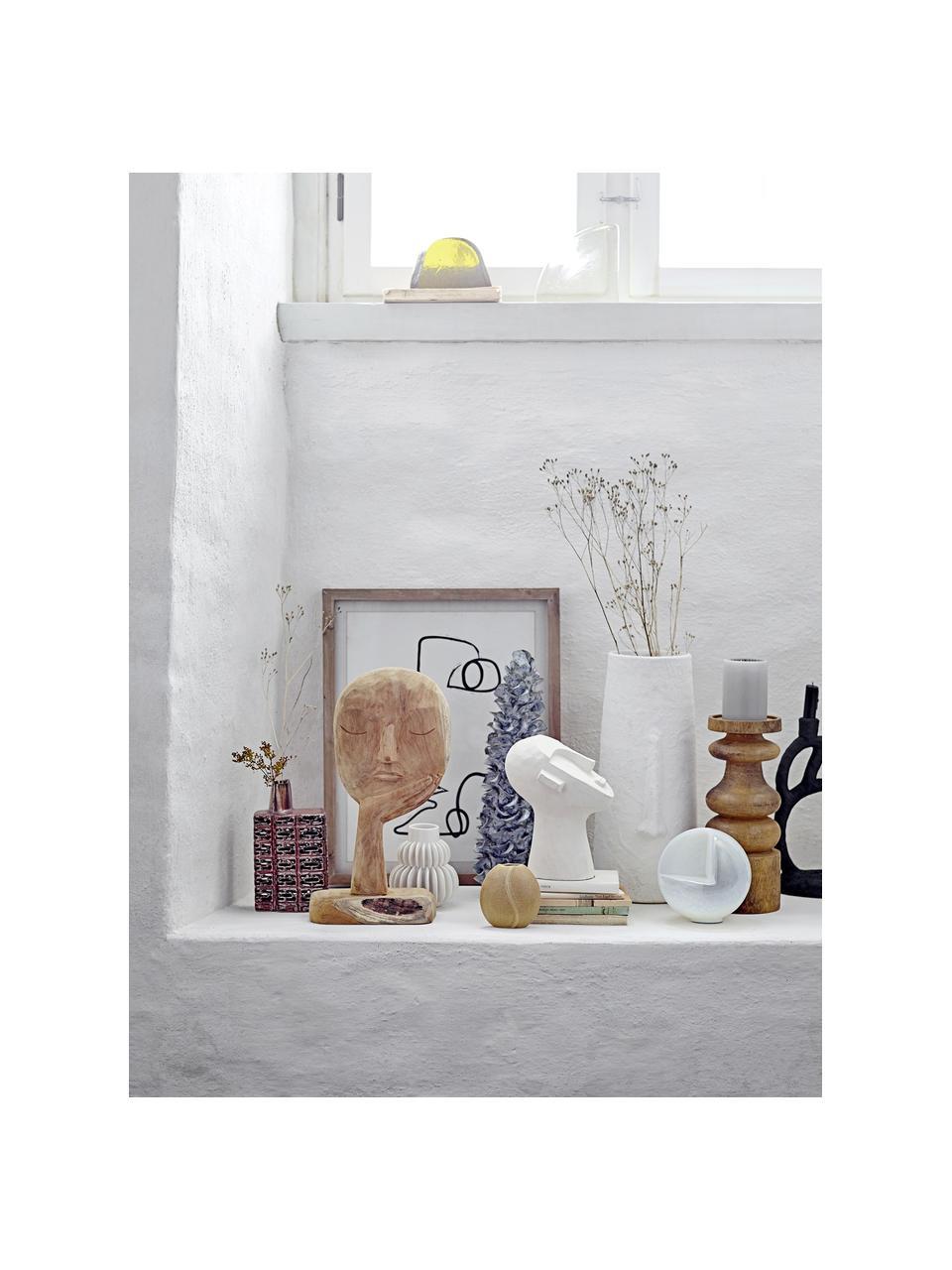 Handgemaakt decoratief object Thought, Gerecycled hout, Houtkleurig, 18 x 35 cm