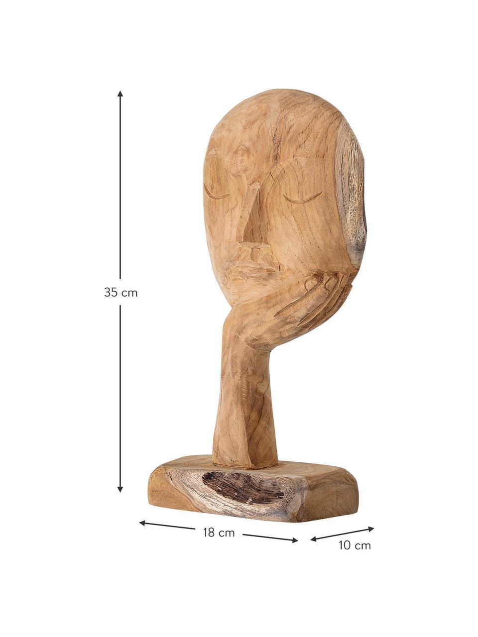 Handgefertigtes Deko-Objekt Thought, Recyceltes Holz, Holz, 18 x 35 cm