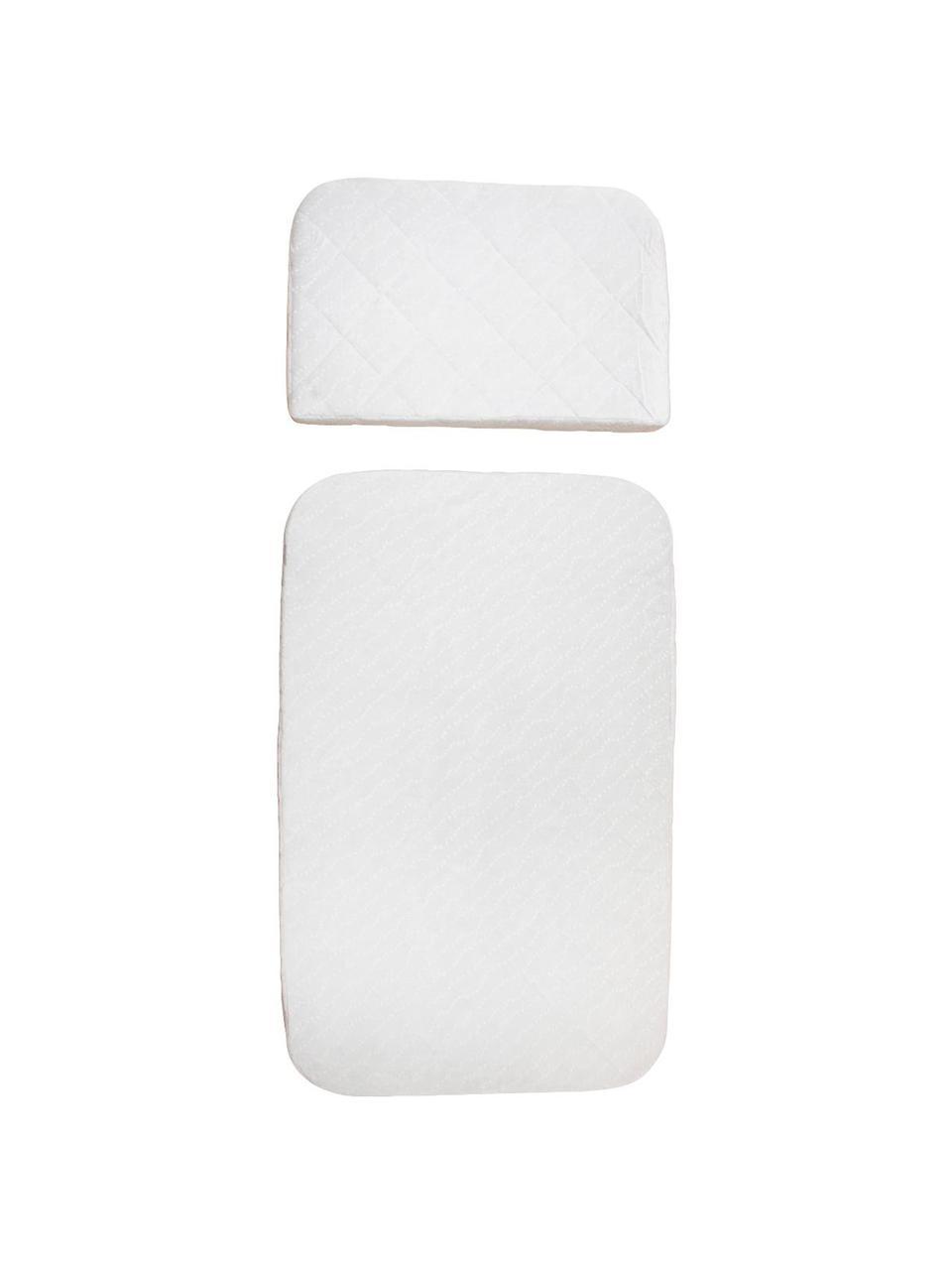 Matratzen-Set Harmony, 2-tlg., Bezug: Baumwolle, Weiß, 70 x 113 cm