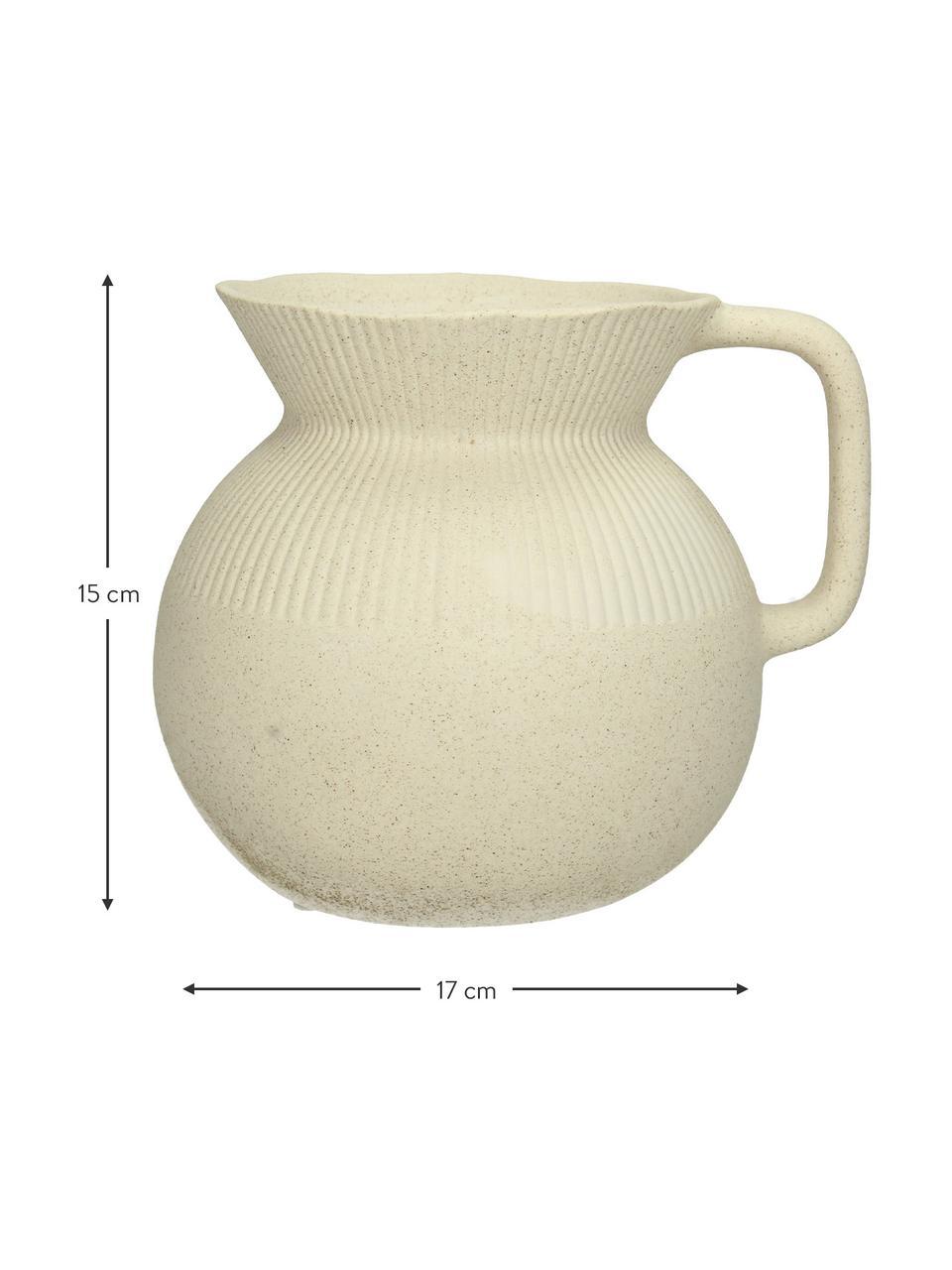 Vaas Chysocolla van porselein, Porselein, Beige, 17 x 15 cm