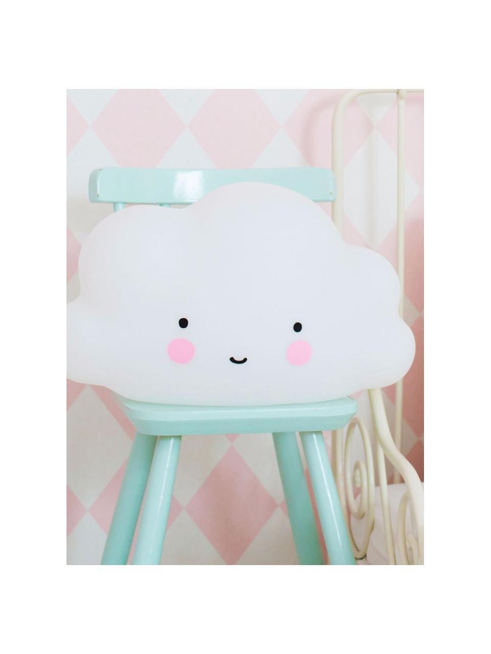 Lampa dekoracyjna LED Cloud, Tworzywo sztuczne, Biały, różowy, czarny, S 45 x W 25 cm