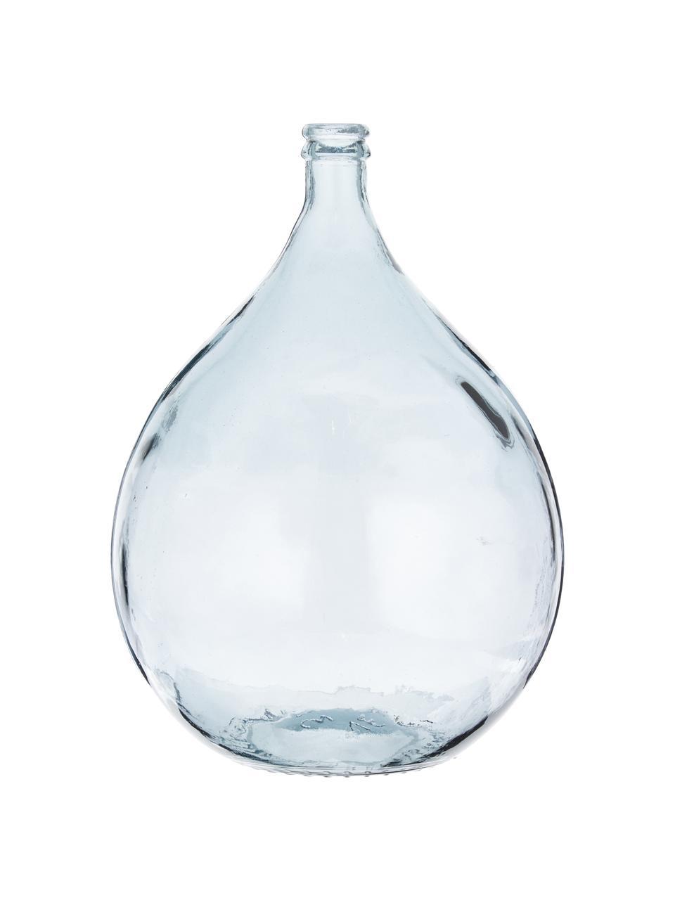 Vaso da terra in vetro riciclato Drop, Vetro riciclato, Blu, Ø 40 x Alt. 56 cm