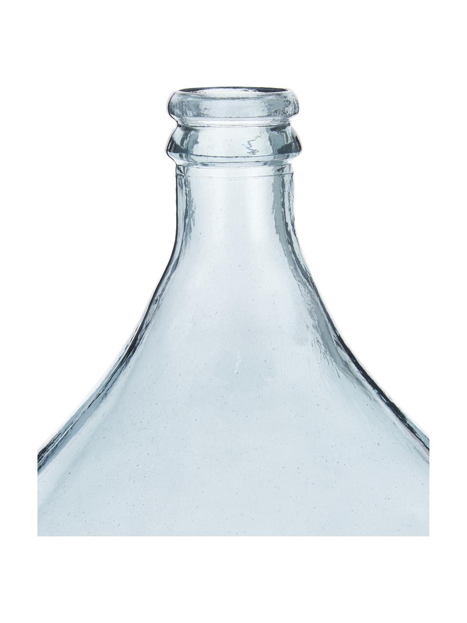 Vase dame-Jeanne verre recyclé Drop, Bleu