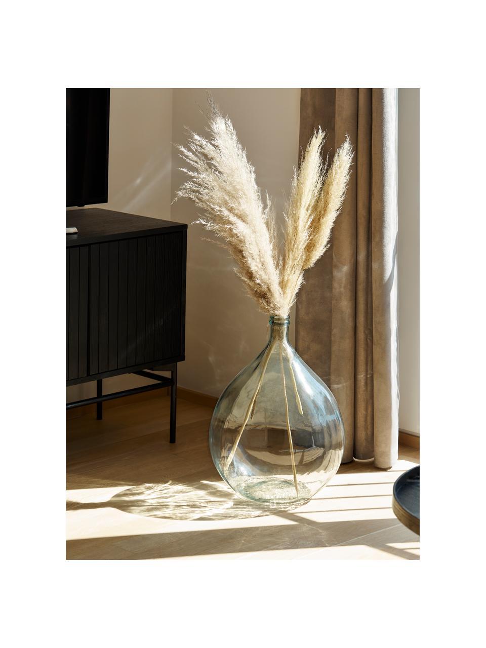 Wazon podłogowy ze szkła z recyklingu Drop, Szkło recyklingowe, Niebieski, Ø 40 x W 56 cm